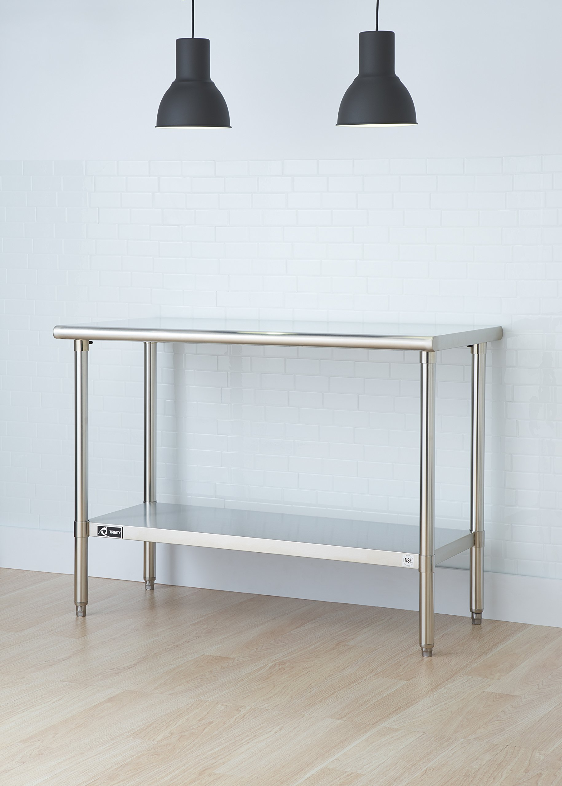TRINITY EcoStorage NSF Stainless Steel Table, 48-Inch by Trinity (Image #4)