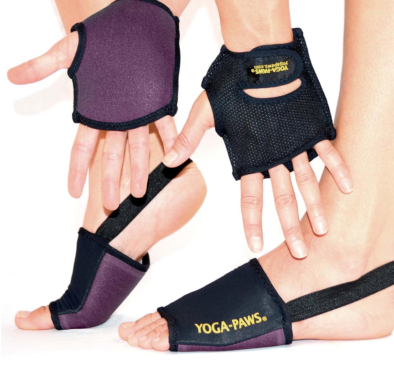yogapaws Set - The Yoga Mat You Wear, Rich Maroon: Amazon.es ...