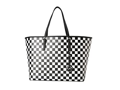822c63df03ba72 Image Unavailable. Image not available for. Color: Michael Kors Jet Set  Checkerboard Travel Tote