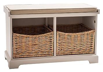 Maine Furniture Co Newport 2 Korb Sitztruhe Mit Kissen Amazon De