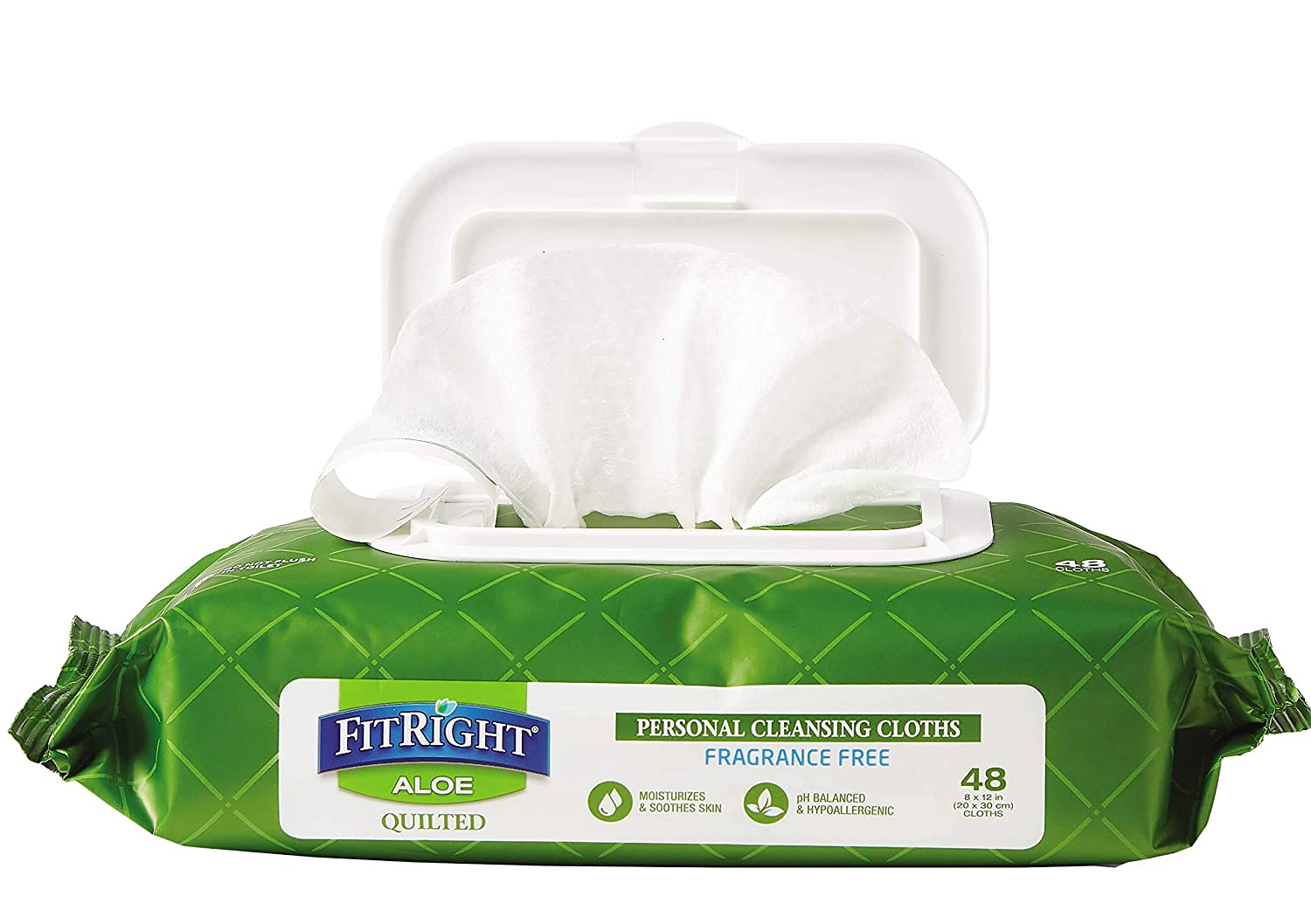 FitRight Aloe Quilted Heavyweight Personal Cleansing Cloth Wipes
