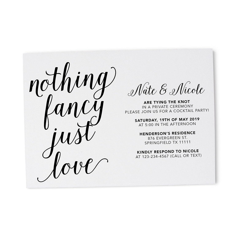 Amazon Com Casual Wedding Party Invitation Card Simple