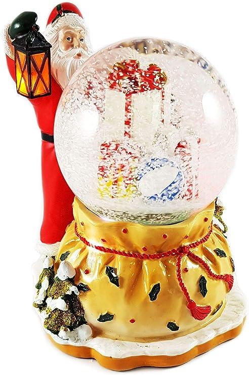 Wichtelstube-Kollektion Gnomo Stube de colección LED Bola de Nieve Santa Claus afeitadora. Copos de Nieve, Muchos melodías y Cambio de Color: Amazon.es: Juguetes y juegos