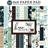 Carta Bella Paper Company Home Again 6x6 Pad paper, green, blue, woodgrain, black, teal