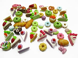 Dollhouse Miniature Food Lot 50 Mixed Cupcakes Cherry Top WHOLESALE 6321