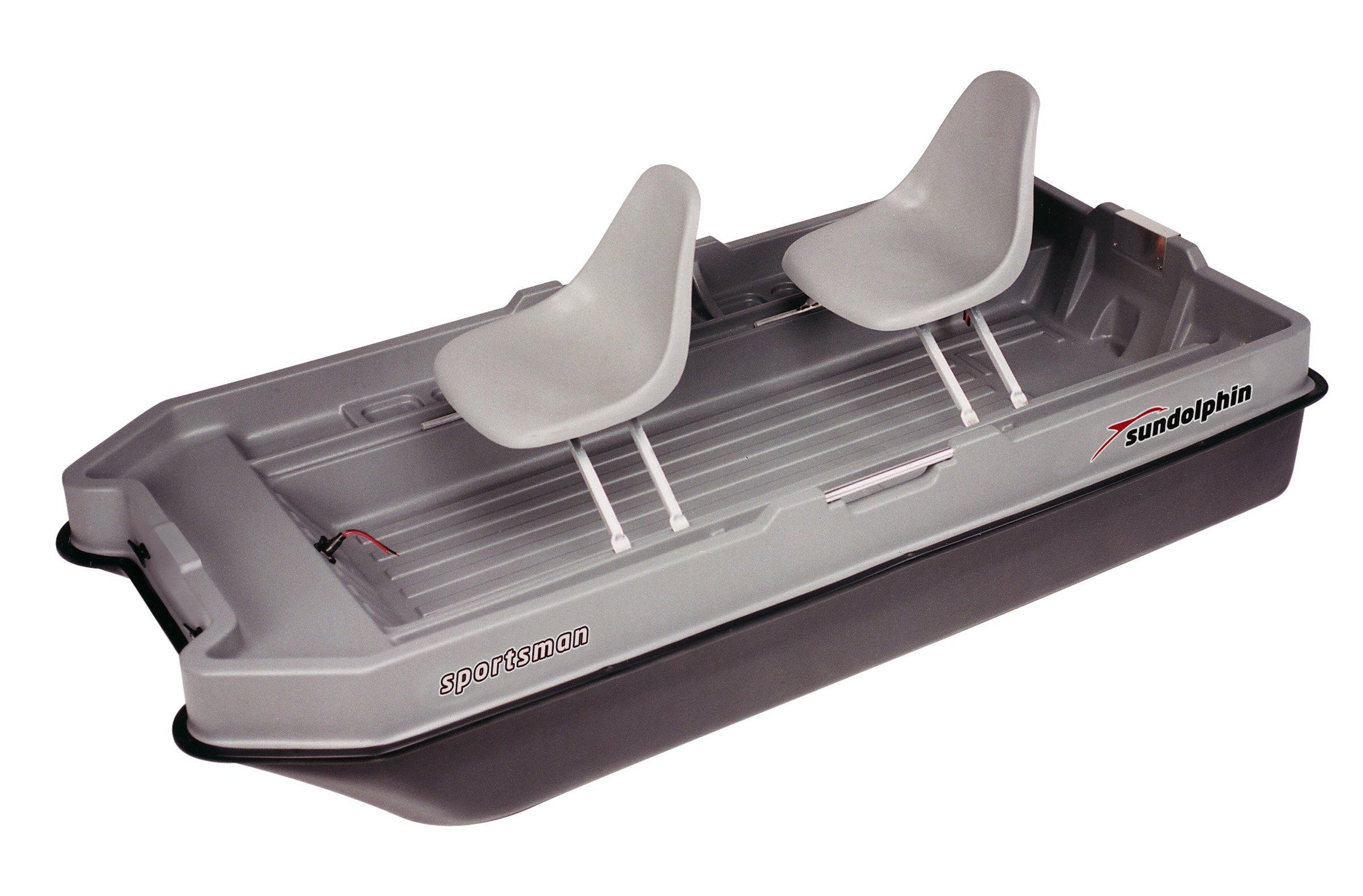 Sun Dolphin Sportsman Fishing Boat (Gray/Black, 8.6-Feet)