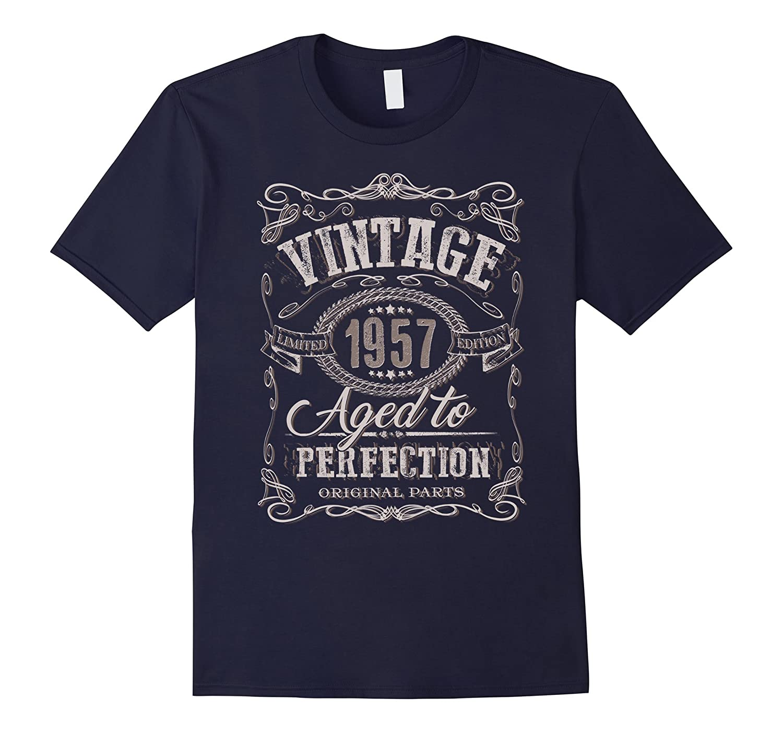 60th Birthday gift shirt Vintage dude 1957 60 year old shirt-TD