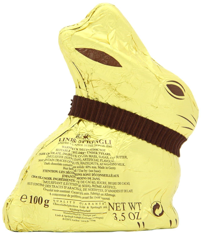 Amazon.com : Lindt GOLD BUNNY - Dark Chocolate 3.5 Ounce : Candy ...