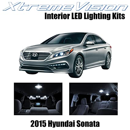 XtremeVision Hyundai Sonata 2015+ (5 Pieces) Pure White Premium Interior  LED Kit Package