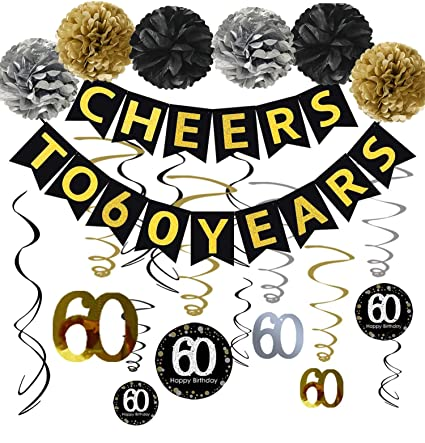Famoby 60th Birthday Party Decorations KIT