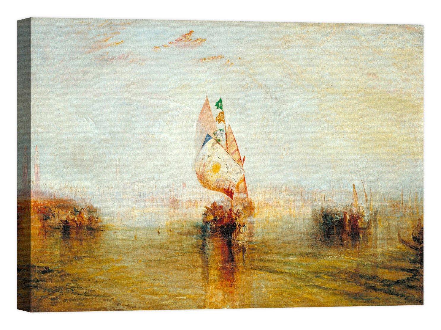 Rahmen Druck auf Leinwand mit Rahmen in Holz William Turner The Sun Of Venice Going To Sea 120x90 CM B07CJJ4FB9 | Elegant Und Würdevoll