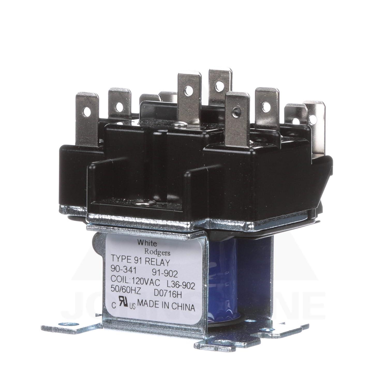 amazon com emerson 90 341 switching relay 115 120v home improvement rh amazon com Starter Relay Wiring Diagram 8 Pin Relay Wiring Diagram