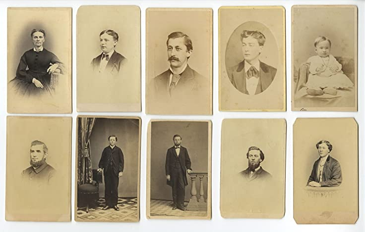 19th Century Carte De Visite Photographs
