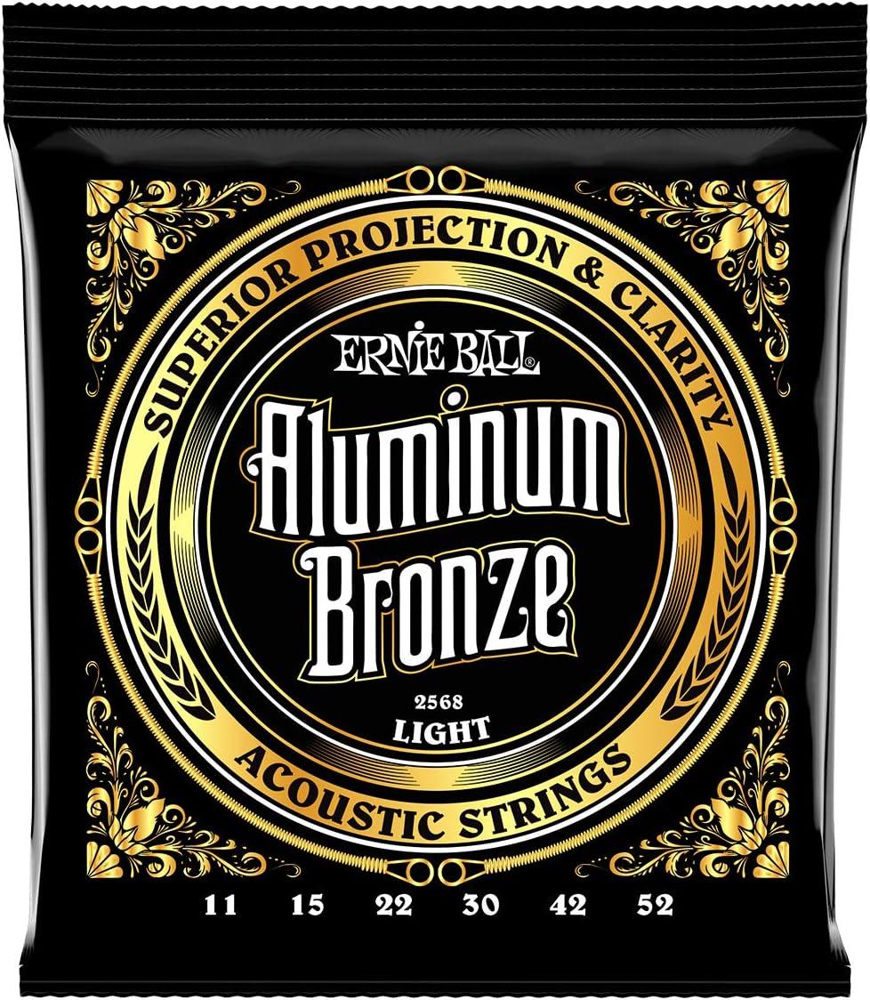 Cuerdas de guitarra acústica de bronce de aluminio Ernie Ball Light - calibre 11-52