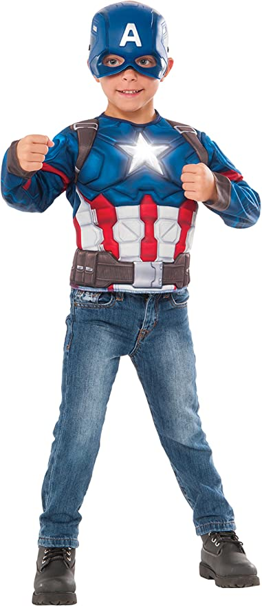 Small Captain Marvel Childs Deluxe Light Up Costume Rubies Marvel Costumes Boost your superhuman ability and project energy from your hands. small captain marvel childs deluxe