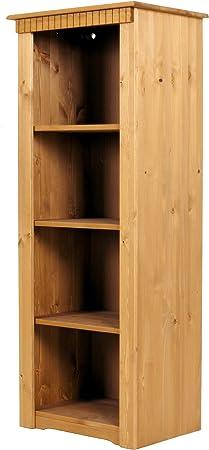 Estantería de madera de pino, tratada con/barnizado: Amazon ...