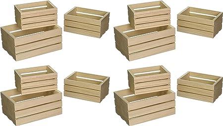 Multicraft Imports WS920 - Cajas de madera para manualidades (3 unidades): Amazon.es: Hogar
