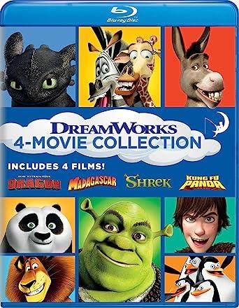 Dreamworks movie collection new shrek madagascar
