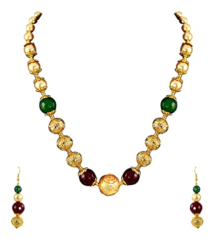 170d72bf6 Buy Zaveri Pearls Jewellery Sets for Women (Multi-Colour) (ZPFK4669) Online  at Low Prices in India | Amazon Jewellery Store - Amazon.in