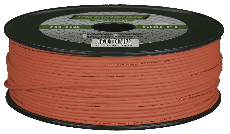 Orange Install Bay PWOR16500 Primary Wire 16 Gauge 500 Feet