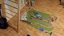 Eisenbahn / Holzeisenbahn Spielmatte (Spielteppich) für