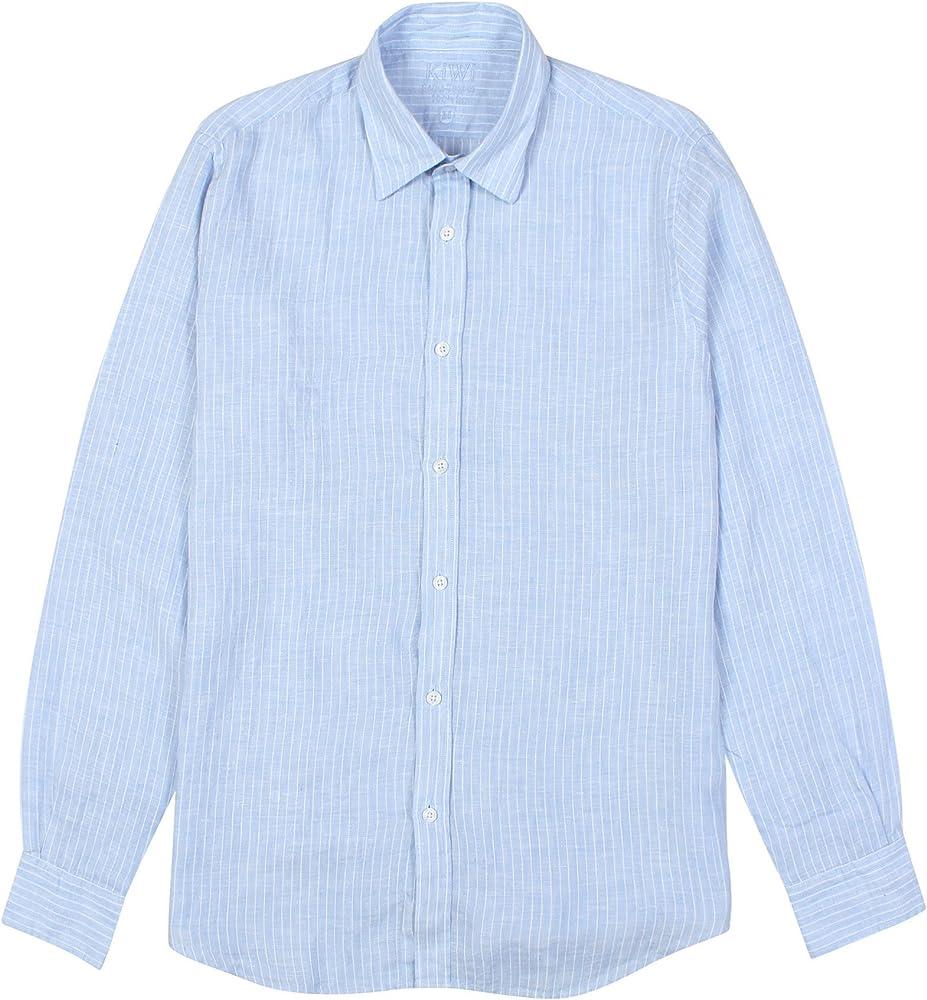 Kiwi Saint – Tropez para hombre camisa de rayas de color azul: Amazon.es: Ropa y accesorios