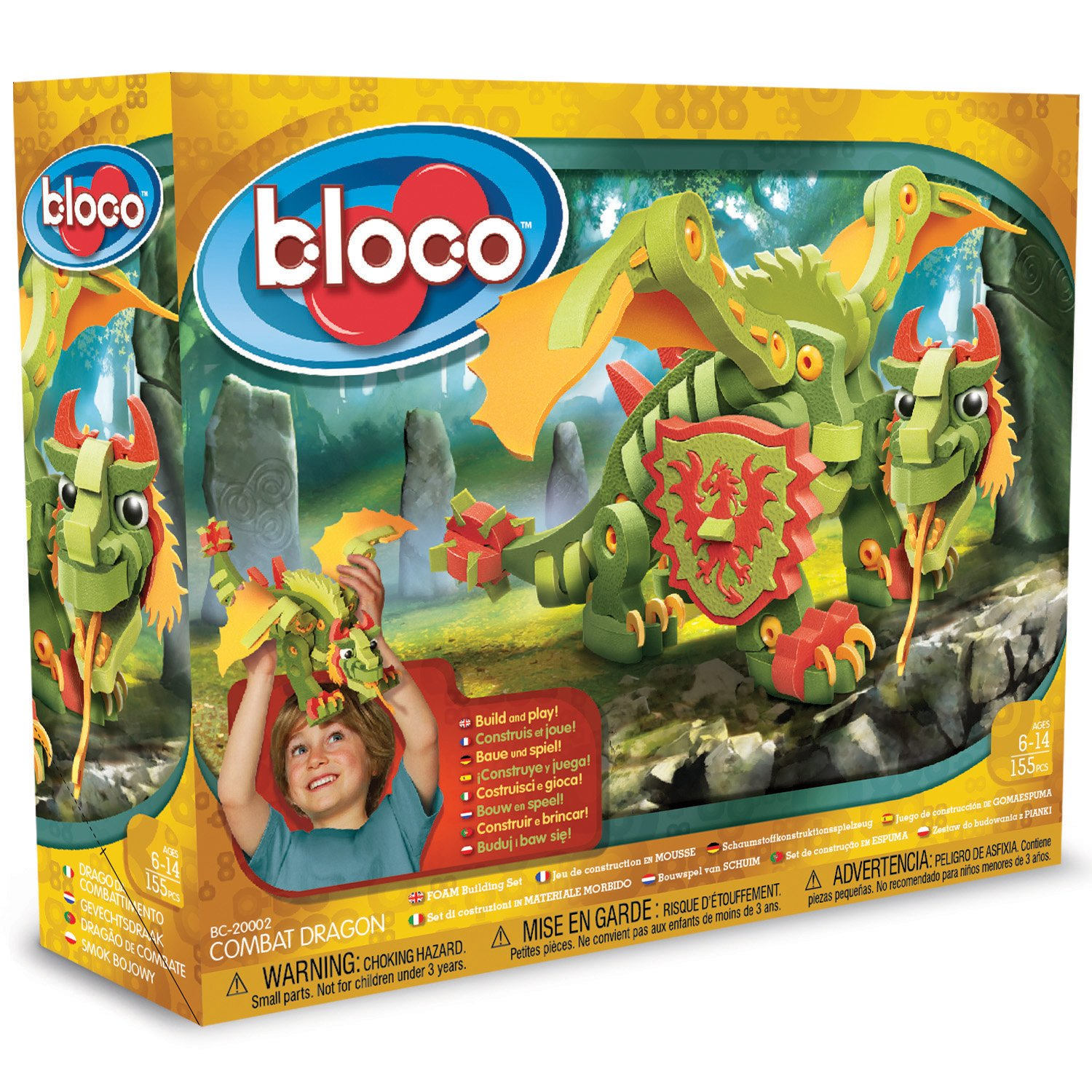 Bloco Toys Combat Dragon Building Kit Toy