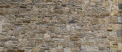 Brick Stone Wallpaper Beige Cream Prepasted Washable