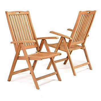 Gartenstühle holz  Amazon.de: DIVERO GL05005_SL 2er-Set Gartenstuhl Hochlehner ...