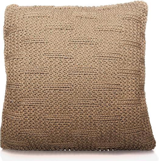 TU TENDENCIA UNICA Cojín de Lana 100% con Relleno de algodón y poliéster (45x45x17cm): Amazon.es: Hogar