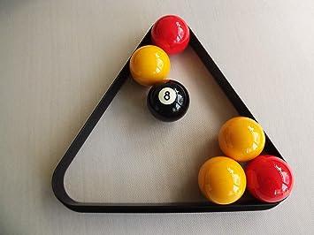 Triángulo para billar o snooker, para 15 bolas de 5 cm: Amazon.es ...