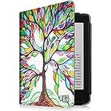 Fintie Kindle Paperwhite Étui Housse - Folio Case Cover Protection étui Housse fermeture magnétique avec mise en veille automatique pour Amazon All-New Kindle Paperwhite (Convient à touts les versions: 2012, 2013 et 2015 New 300 PPI) - Love Tree