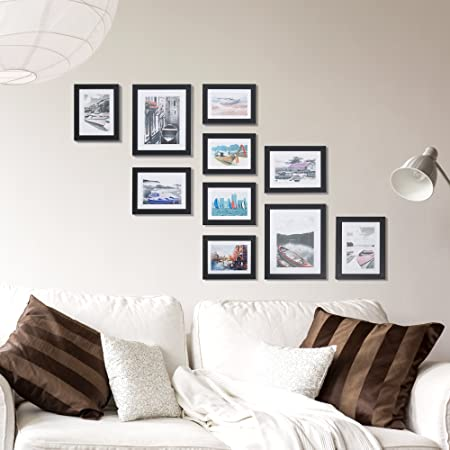Livebest 10pc Multi Pack Picture Frame Value Set - Two 8x10 in, Four ...