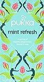 Pukka Mint Refresh, Organic Herbal Tea with Peppermint & Rose Flower (4 Pack, 80 Tea bags)