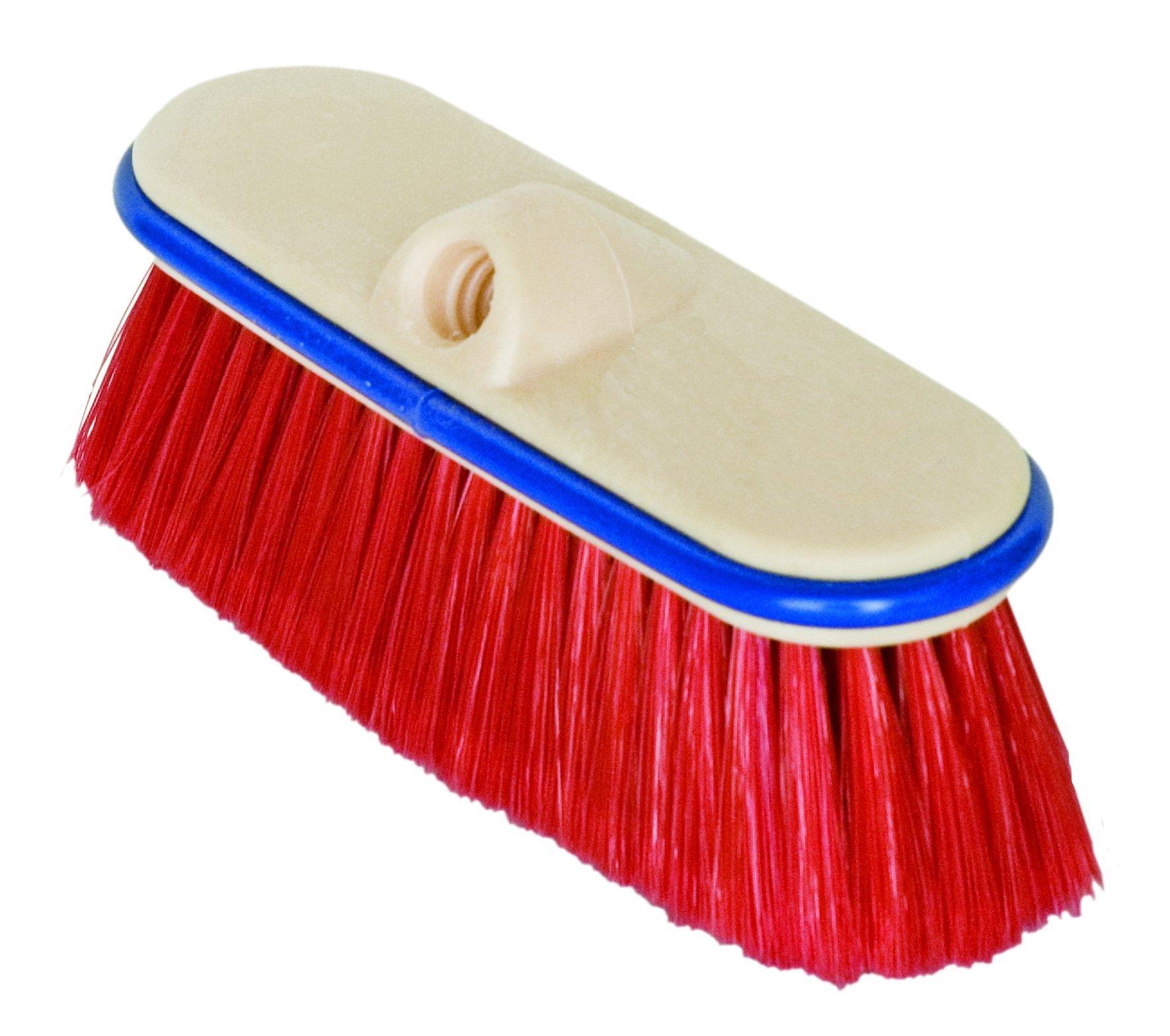 Magnolia Brush 3046 Ultra Block Truck Wash Brush, Flagged Nylon Bristles, 2-1/2'' Trim, 9'' Length, Red (Case of 12)