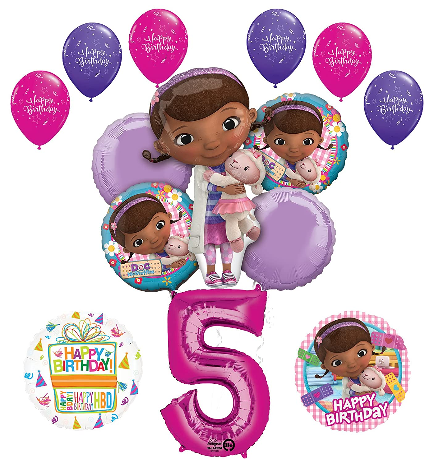 Mayflower Products Princess 1st Birthday Party Supplies Belle Balloon Bouquet Decorations