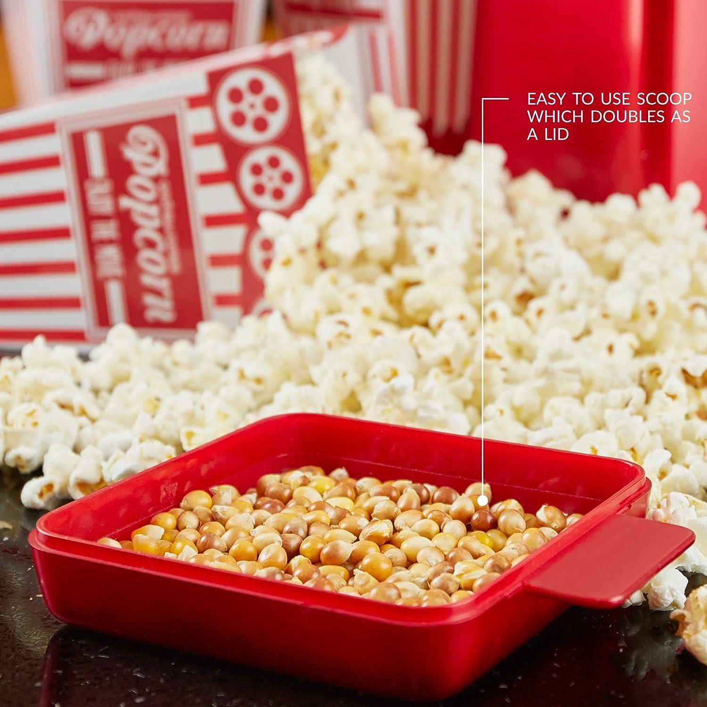 Andrew James Cinema Style Popcorn Maker Retro Hot Air Popper
