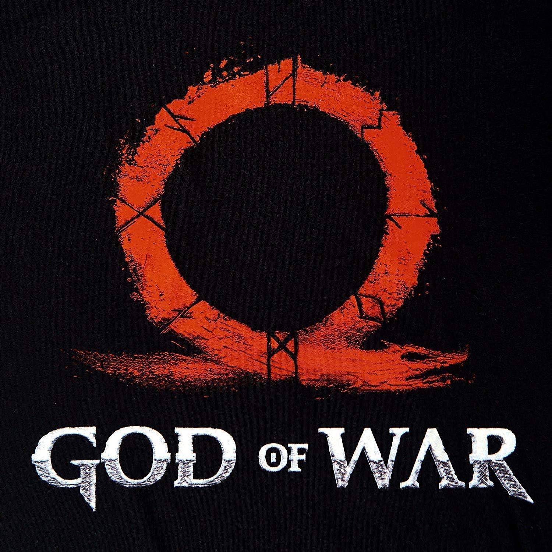 Mens T-shirt Ohm Sign Rune Engraving XX-Large Black God of War