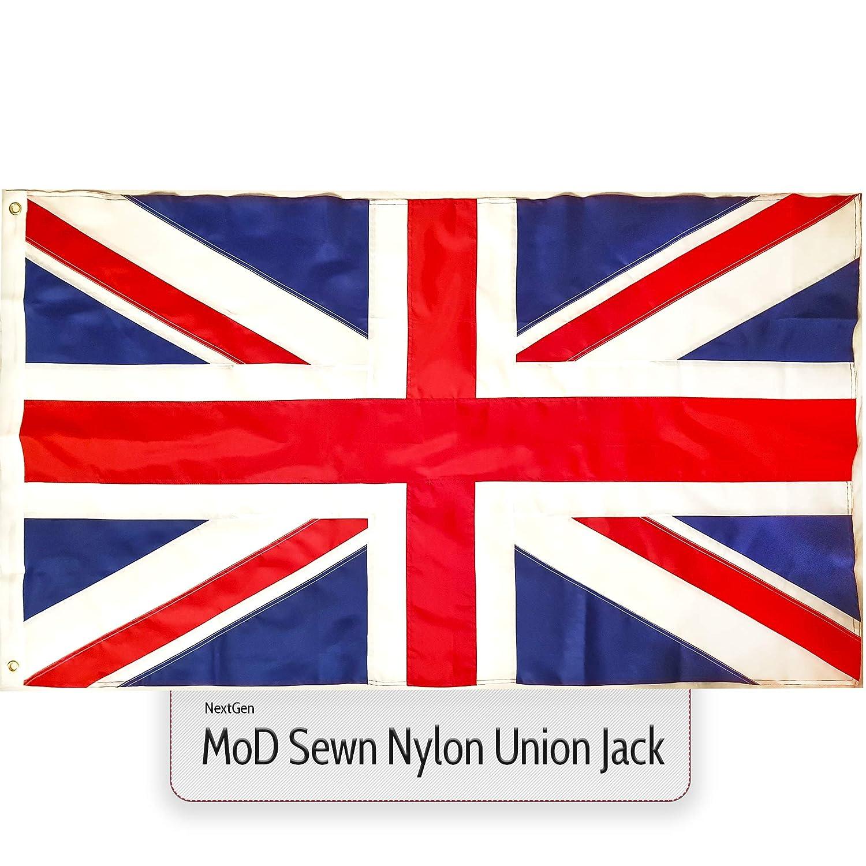 9405dd442644 Union Jack Flag MoD Sewn Nylon Fabric Large Great Britain British GB UK 5ft  x 3ft  Amazon.co.uk  Garden   Outdoors