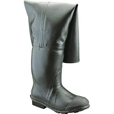 "Ranger Bullhead 32"" Heavy-Duty Men's Full Rubber Insulated Hip Boots, Forest Green (A2300): Home Improvement"