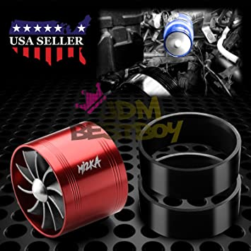 "Mi2KA Turbine Air Intake Fuel Gas Saver Single Fan Turbonator Acceleration System Turbo 2.5""-"