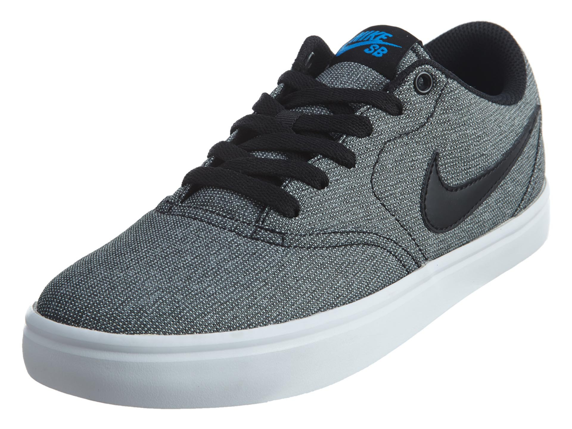 ab3b50c9470 Galleon - Nike Men s Sb Check Black   - White Photo Blue Ankle-High Suede  Skateboarding Shoe 12M