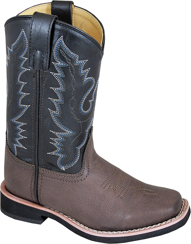 Smoky Mountain Boys Brown//Black Tyler Square Toe Western Cowboy Boots Smoky Mountain Boots 1625C