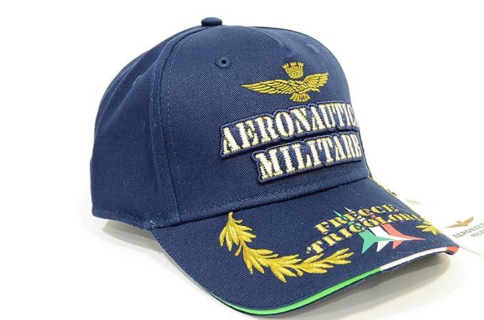 Aeronautica Militare Cappellino baseball regolabile BLU HA982CT FRECCE  TRICOLORE cc34a877d8e0