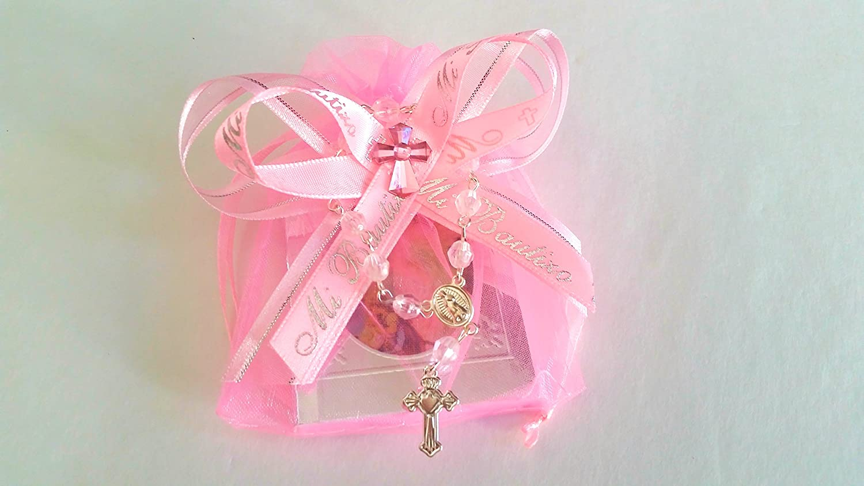 Amazon.com: Pink for Girl. Baptism Favors 12pc / Prayer Books ...