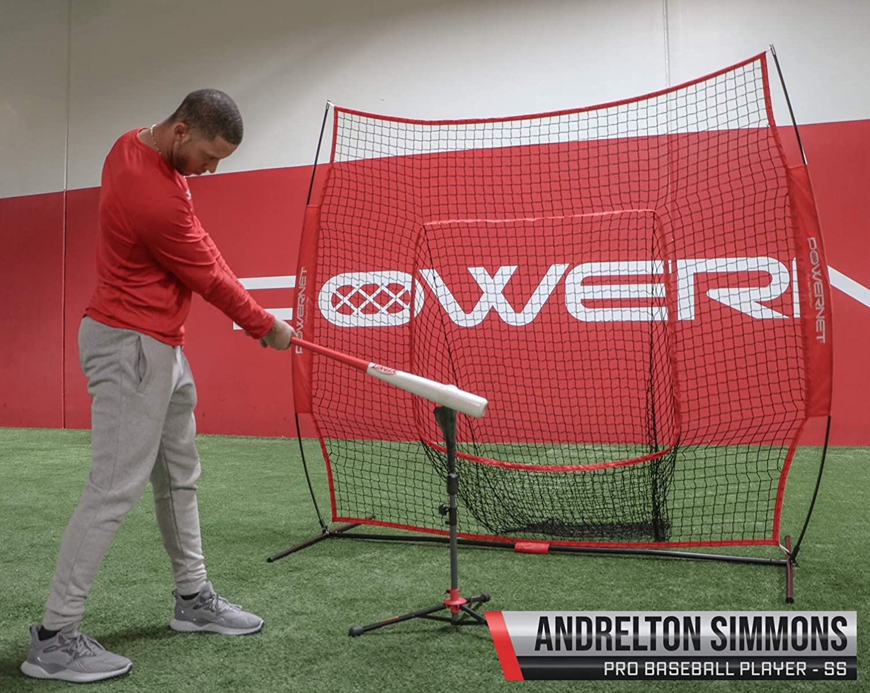 PowerNet Baseball Softball Practice Net 7x7 with Deluxe Tee Practice Hitting