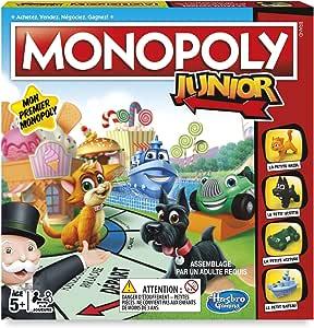 Hasbro Monopoly Junior Niños Simulación económica - Juego de Tablero (Simulación económica, Niños, Niño/niña, 5 año(s), Francés, Francés): Amazon.es: Juguetes y juegos