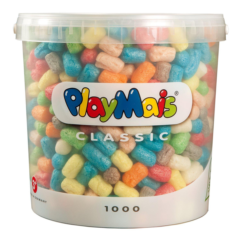PlayMais Basic - Cubo de 1000 piezas de construcción ecológico (Loick Biowertstoff 160027) product