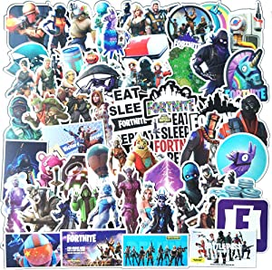 110 Pcs Funny Stickers for Fortnite,Aesthetic Stickers for Water Bottle Laptop Skateboard Luggage Flask Computer Car Phone,Cool Trendy Vinyl Waterproof Stickers for Teens Boys Kids Girl Adults.