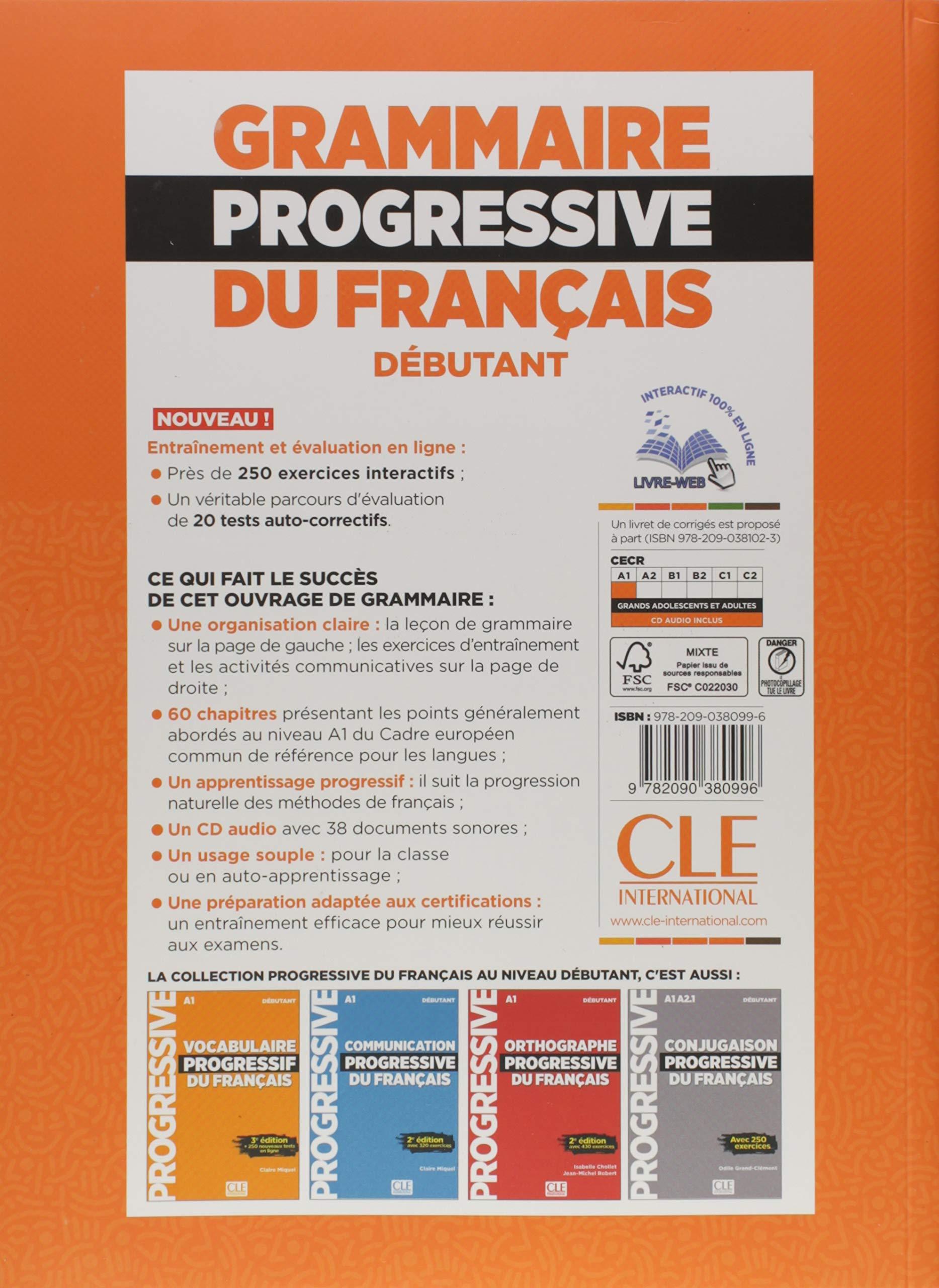 Amazon Com Grammaire Progressive Du Francais Niveau